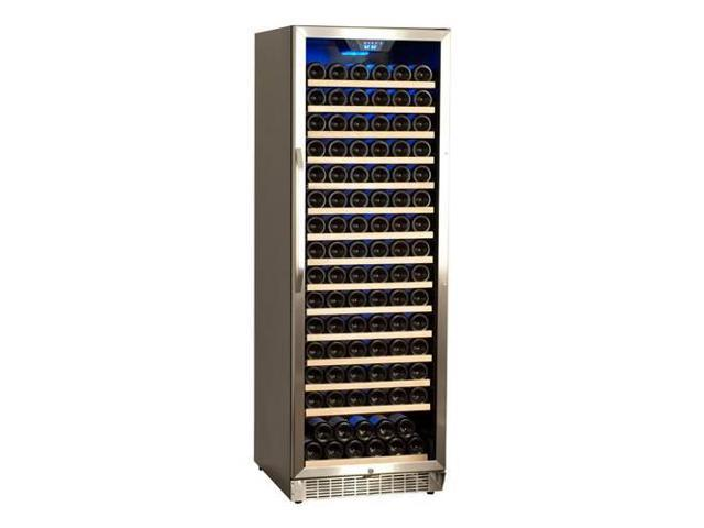 EdgeStar 166 Bottle Built-In or Free Standing Wine Cooler - Black/Stainless Steel