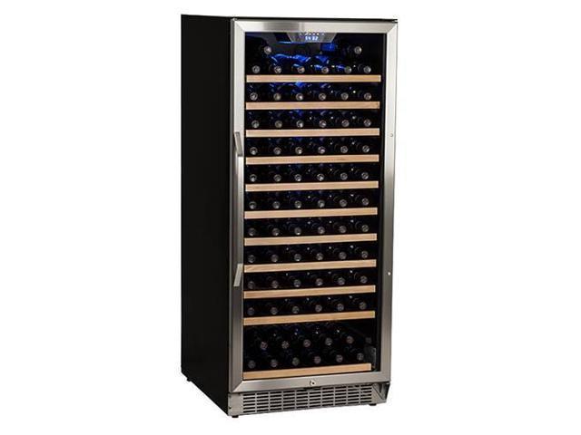 EdgeStar 121 Bottle Single Zone Built-In Wine Cooler - Stainless Steel and Black