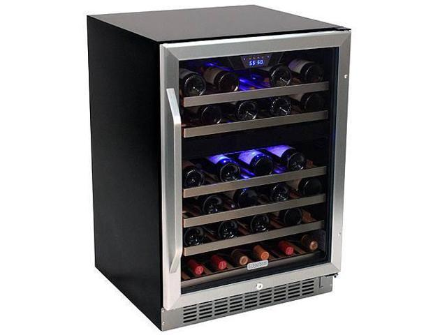 EdgeStar 46-Bottle Dual Zone Stainless Steel Wine Cooler