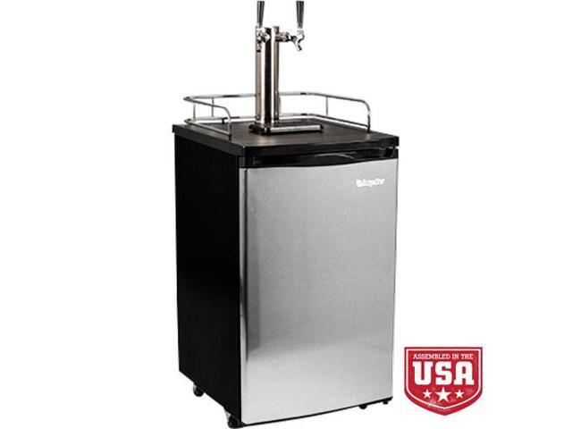 EdgeStar Full Size Stainless Steel Dual Tap Kegerator & Draft Beer Dispenser - Stainless Steel