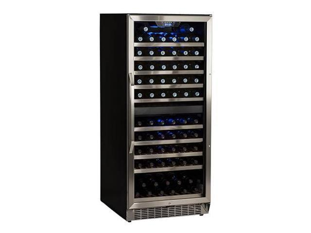 EdgeStar CWR1101DZ 110 Bottle Built-In Dual Zone Stainless Steel Wine Cooler