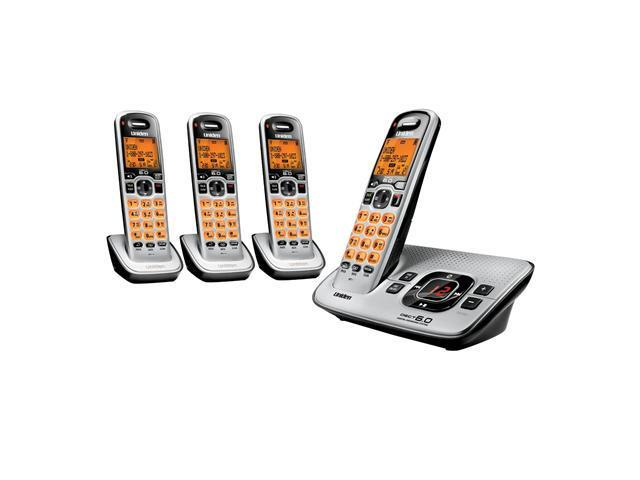 Uniden UN-D1680-4 Dect 6.0 4 Handsets Tad Speakerphone Mute Hold Digital Answering System Cordless