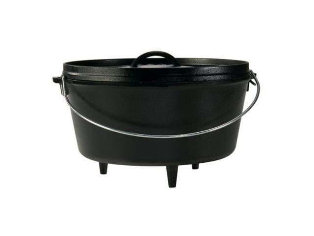 Lodge Logic 8 Quart Camp Dutch Oven with Lid in Black