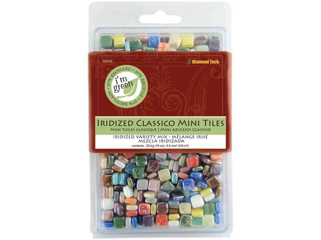 Classico Mini Iridized Tile Mix 16oz-Assorted Colors