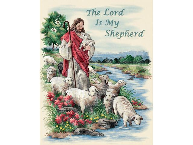 The Lord Is My Shepherd Stamped Cross Stitch Kit-11