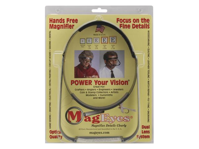 MagEyes Magnifier-Full Circle/Double Hi - Black