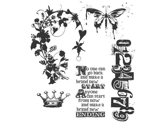 Tim Holtz Cling Rubber Stamp Set-Fairytale Frenzy