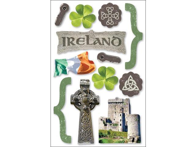Paper House 3-D Sticker-Ireland