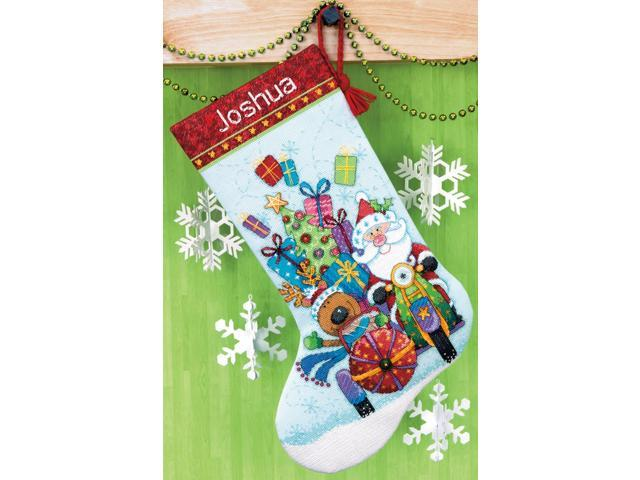 Santa's Sidecar Stocking Counted Cross Stitch Kit-13