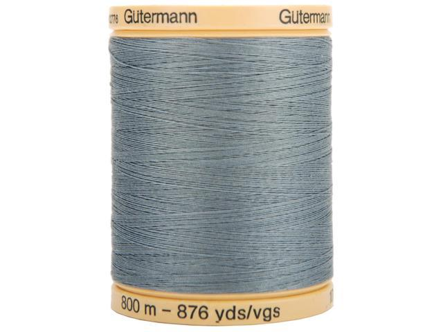 Natural Cotton Thread Solids 876 Yards-Stormy Grey