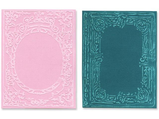 Sizzix Texture Fades Embossing Folders By Tim Holtz 2/Pkg-Book Covers