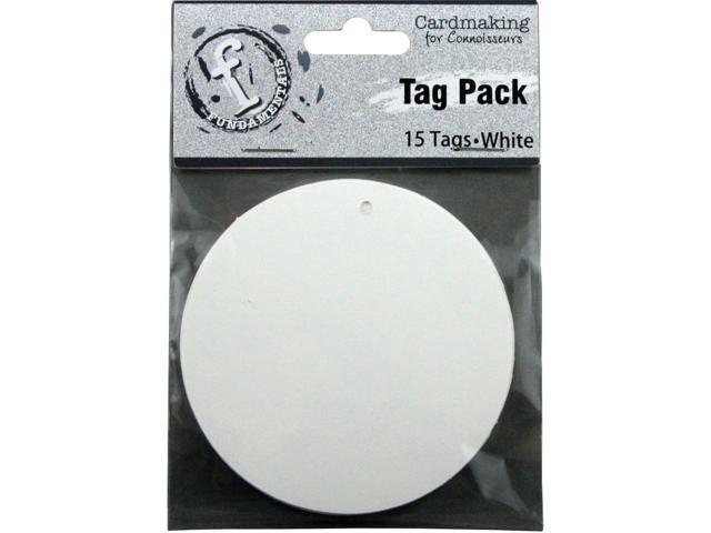Fundamentals Tags 15/Pkg-Medium Circle/White