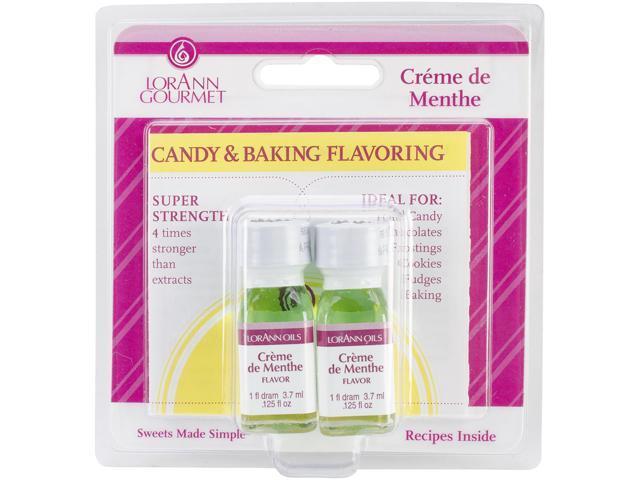 Candy & Baking Flavoring .125oz 2/Pkg-Creme De Menthe