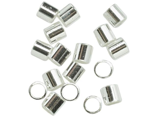 Plated Silver Elegance Metal Findings-Crimp Beads 2.5mm 75/Pkg
