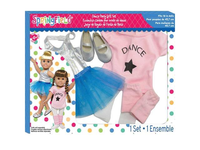 Springfield Collection Dance Party Gift Set-Pink Shirt, Silver Tank & Blue Skirt