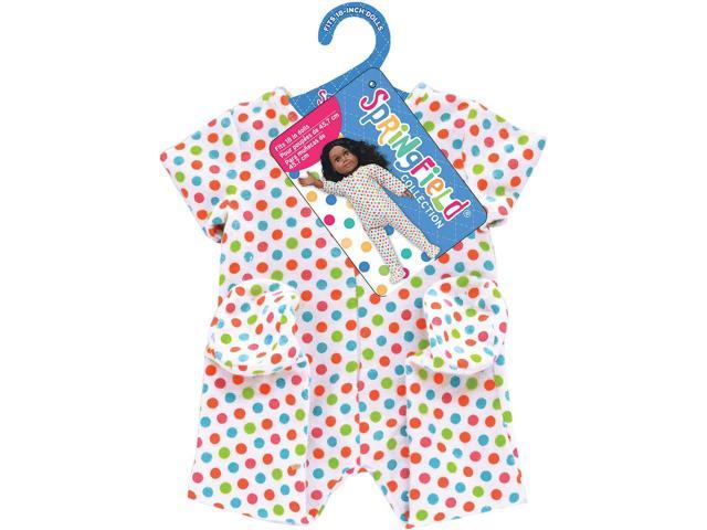Springfield Collection Footie Pajamas-White W/Polka Dots