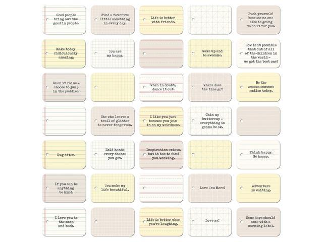 Soup Staples 3 Sides Die-Cut Notebook Tags 35/Pkg-Everyday