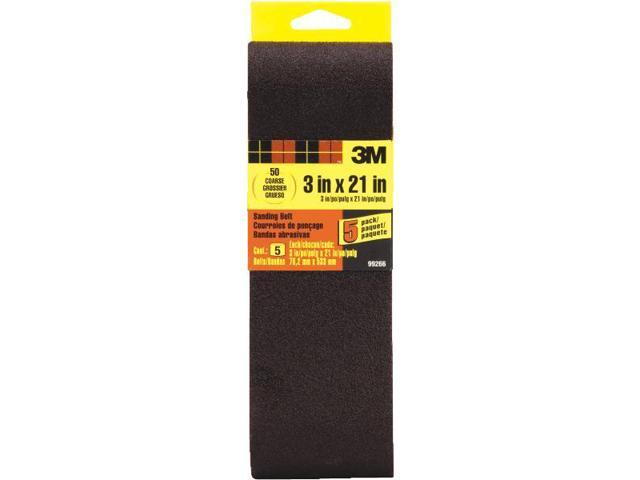 3M 99266 General Purpose Sanding Belt-5PK 3X21 50 GRIT BELT