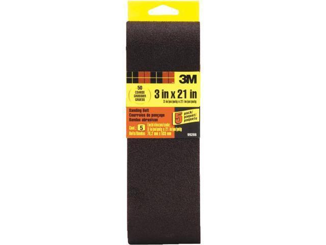 3M 99266 General Purpose Sanding Belt-5PK 3X21 50 GRIT BELT