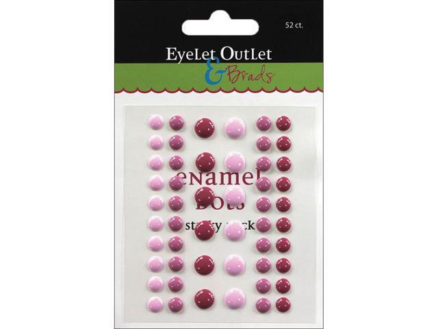 Eyelet Outlet Adhesive-Back Enamel Dots 52/Pkg-Purples