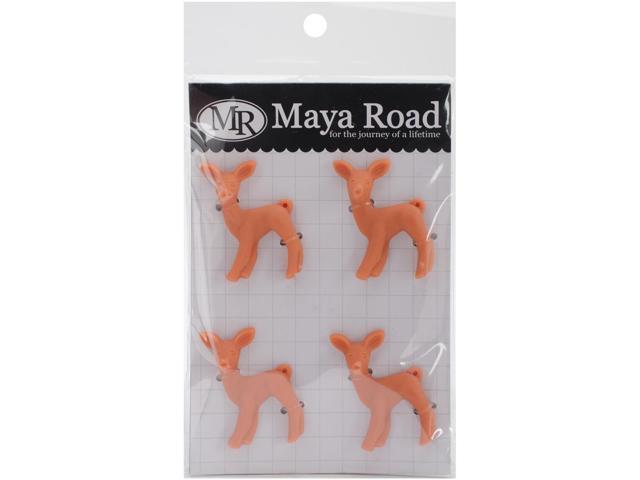 Oh Deer Resin Charm Embellishments 4/Pkg-Sunset Orange 1.8
