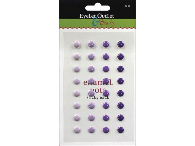 Eyelet Outlet Adhesive-Back Enamel Dots 32/Pkg-Purple