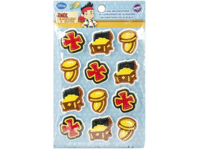 Royal Icing Decorations 12/Pkg-Jake & The Never Land Pirates