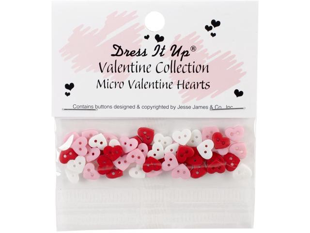 Dress It Up Holiday Embellishments-Mini Valentines Hearts