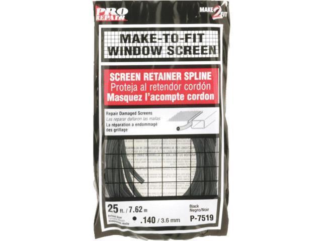 Prime Line Prod. P7519 Screen Retainer Spline-.140X25' BLK SCRN SPLINE