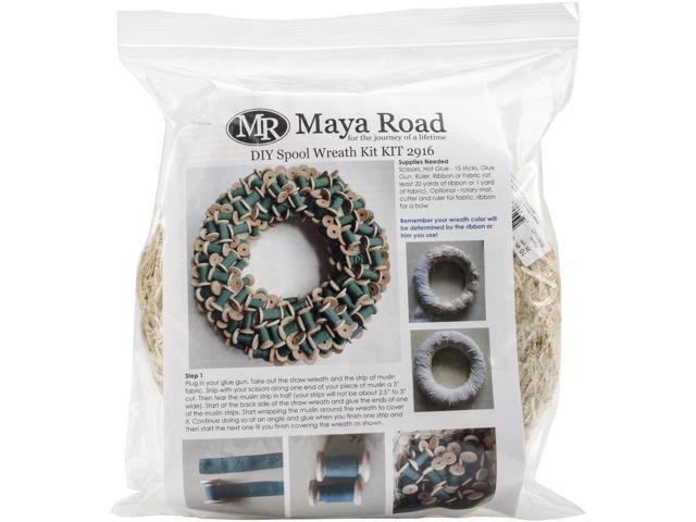 Maya Road Diy Spool Wreath Kit-12