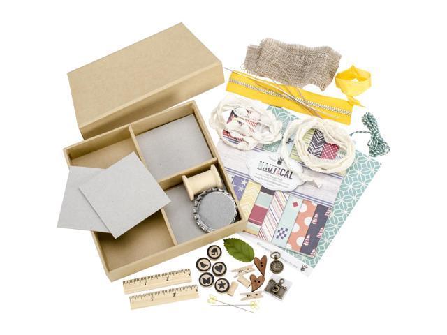 Maya Road Undiscovered Treasures Chipboard Shadowbox Kit-7.5
