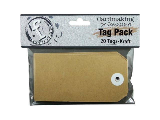 Fundamentals Tags 20/Pkg-Medium Rectangle/Kraft