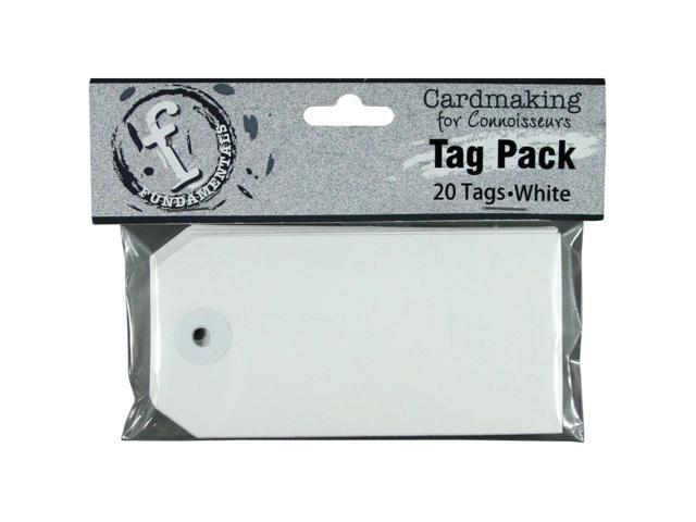 Fundamentals Tags 20/Pkg-Medium Rectangle/White