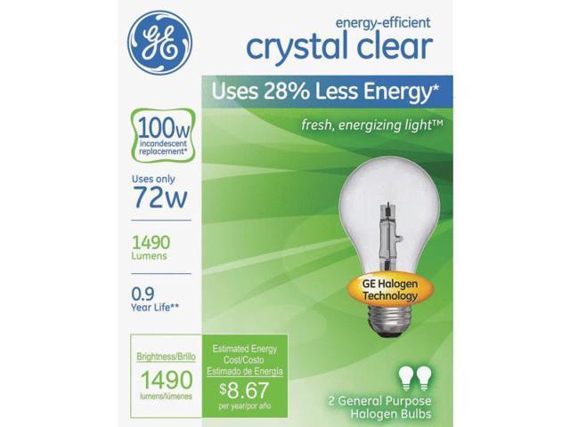 GE Lighting 78798 A19 Halogen Light Bulb-72W CLR A19 HALOGEN BULB