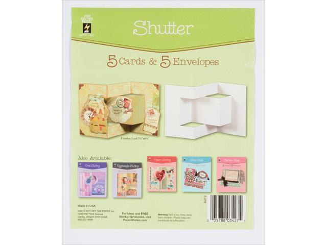 Hot Off The Press Die-Cut Cards W/Envelopes 5/Pkg-Shutter