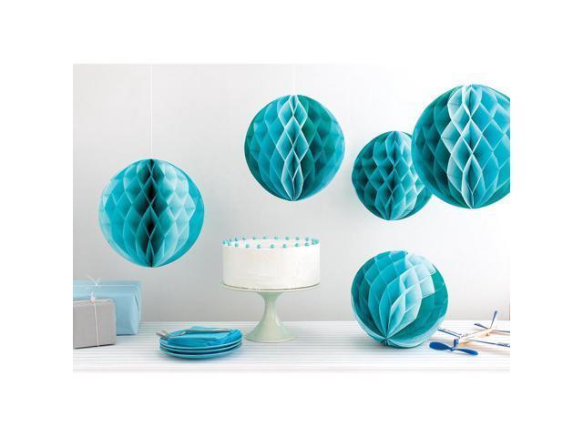 Honeycomb Paper Decorations Makes 5-Blue Ombre