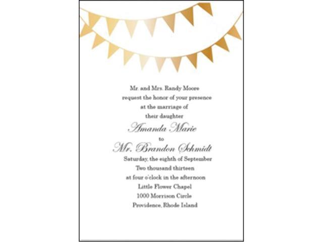Invitations 12/Pkg-Gold Foil Garland