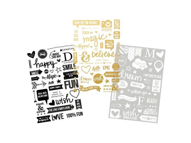 Say Cheese Ii Photo Stickers 3 Sheets-1 Black, 1 White & 1 Gold