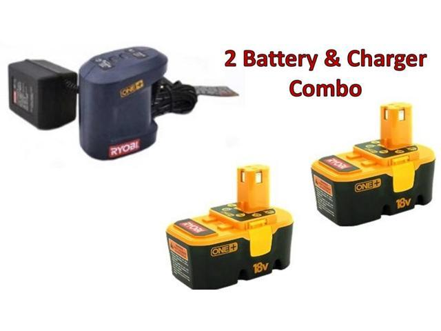 ryobi 2 pack p100 one 18v 1 5ah batteries 1 p111. Black Bedroom Furniture Sets. Home Design Ideas