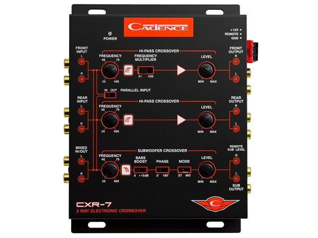 Cadence Acoustics United Series CXR7, Three-Way Electronic Crossover with 7 Volt Line Driver