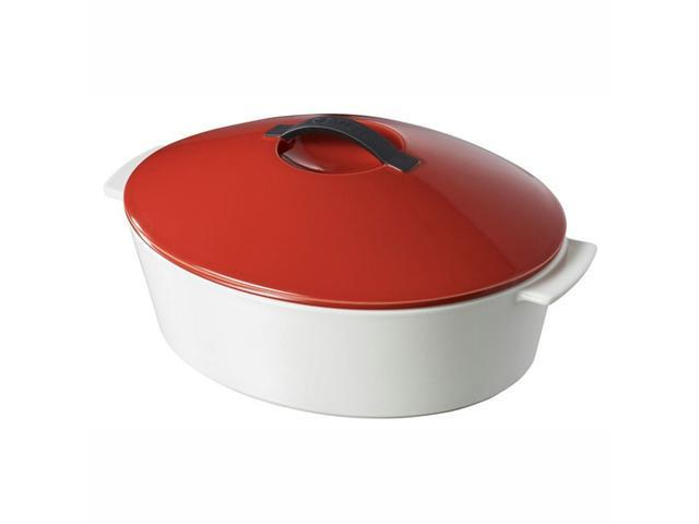Revol Revolution 4.75 Qt Oval Cocotte w/Lid - Pepper Red
