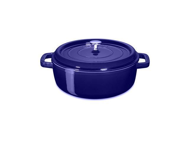 Staub Wide Round Shallow Cocotte - 4Qt - Dark Blue