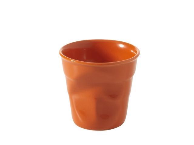 Revol Froisses - 6 1/4 oz. Cappuccino Crumpled Tumbler - Clementine