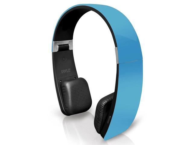 Pyle Sound 6 PHBT6BL Bluetooth 2-in-1 Stereo Headphones with Built-in Mic (Blue)