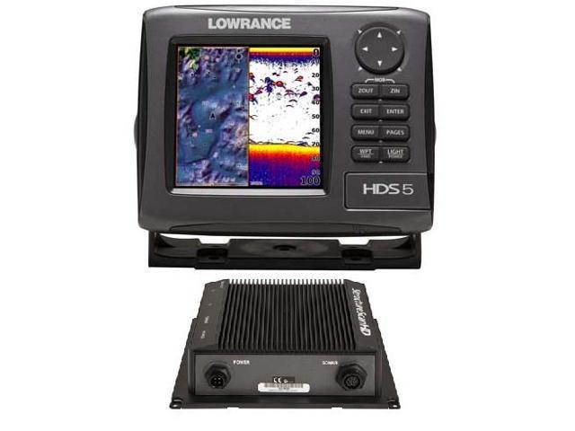 Lowrance HDS-5 Gen2 Lake Insight 83/200Khz & LSS-2 HD Bundle 000-10868-001