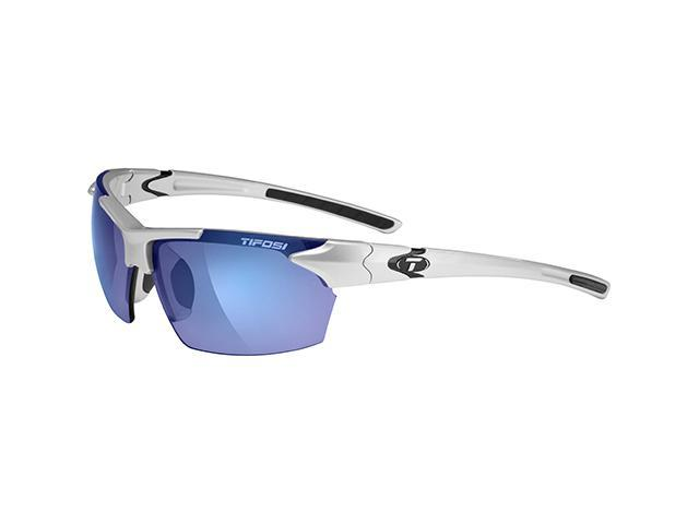 Tifosi Jet Metallic Silver with Smoke Blue Lens