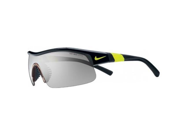 Nike Show X1 Sunglasses Black/Volt Frame w/Grey Silver Flash Lenses EV0617 007