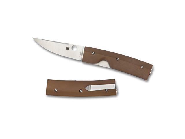 Spyderco Nilakka Brown Plain Folding Knife C164GPBN