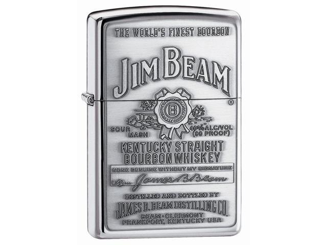 Zippo Jim Beam Pewter Emblem High Polished Chrome 250JB928