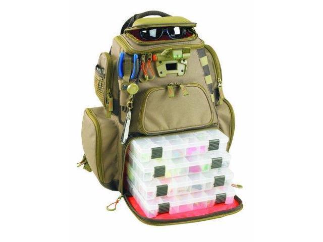 Wild River WT3604 Tackle Tek Nomad Lighted Backpack 4 Trays
